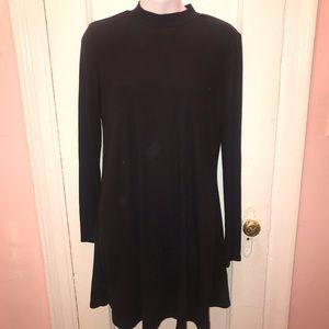 Ambiance Little Black Swing Dress Size Large